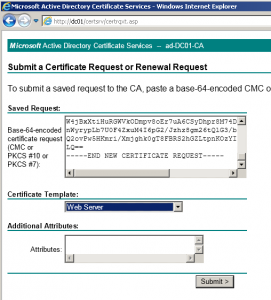 Получение сертификата из центра сертификации
